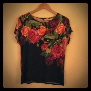 Ted Baker London Rose Top Siz 3 Good Condition